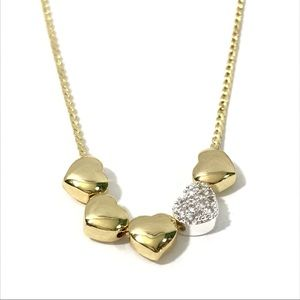 """2/$20🎁 Dainty Gold Plated 18"""" Heart Bead Necklace"""
